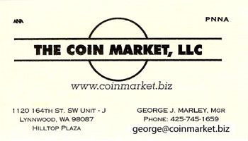 Coin Market business card