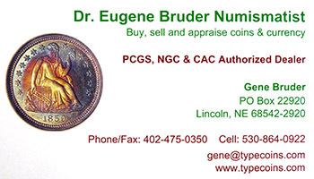 Gene Bruder business card