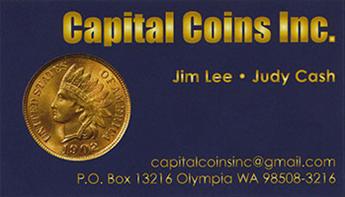 Capital Coins Inc. business card
