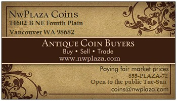 NW Plaza Coins business card