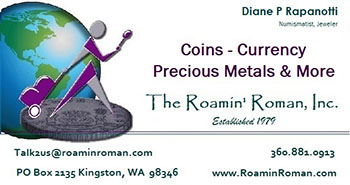 The Roamin' Roman, Inc. business card